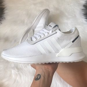 WOMENS ADIDAS ORIGINALS ALL WHITE SNEAKERS